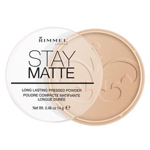 Rimmel London Stay Matte Long Lasting Pressed Powder 004 Sandstorm kosmetyki damskie - puder 14g